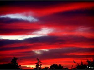 foto di tramonto tramonto Tramonto infuocato da Campoverde (LT)