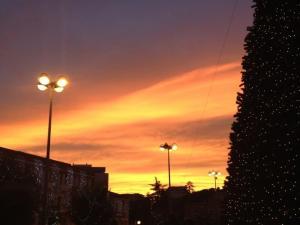 foto di tramonto, tramonto Tramonto Natalizio