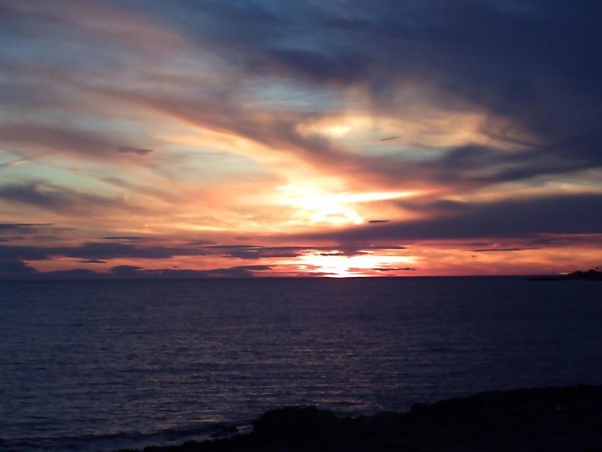 tramonto dalle coste di mancaversa Lecce foto di tramonti sul mare foto di tramonto spiaggia dune salento