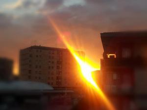 foto di tramonto, tramonto Tramonto laser a LAtina