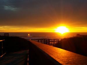 foto di tramonto tramonto Tramonto sul mare in mezzo alle dune di Sabaudia
